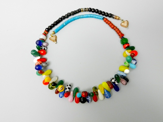 necklace with African trade beads
